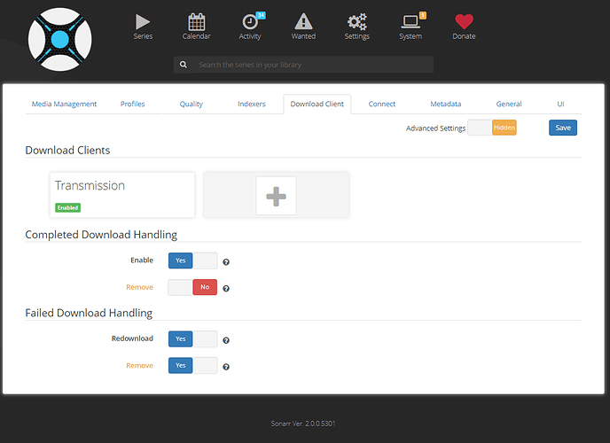 Unable to get Transmission to start downloads with Sonarr