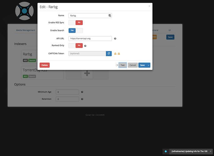 Sonarr Scheduler Not Running - Help & Support - sonarr :: forums