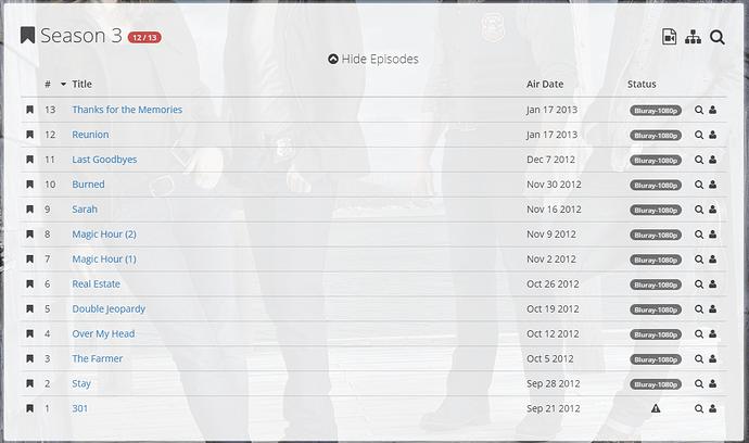 Sonarr Not Registering Single Episode In Season - Help