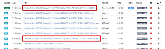 Sonarr picked torrent over usenet, when it shouldn't have - v3
