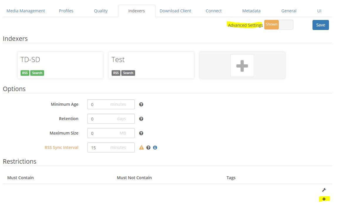 First time Sonarr user - Help & Support - sonarr :: forums